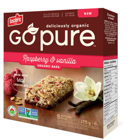 Go Pure packaging (CNW Group/Groupe Biscuits Leclerc)