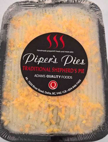 Traditional Shepherd's Pie – Beef Shepherd's Pie - 850 gram (CNW Group/Canadian Food Inspection Agency (CFIA))