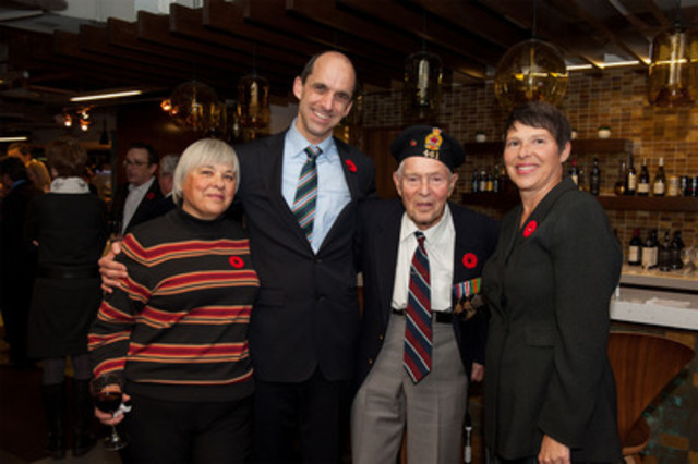 "Minister of Veterans Affairs Steven Blaney with Veterans and other special guests at a special screening of the Ortona episode of History Channel's new series, ""War Story"" (CNW Group/Veterans Affairs Canada)"