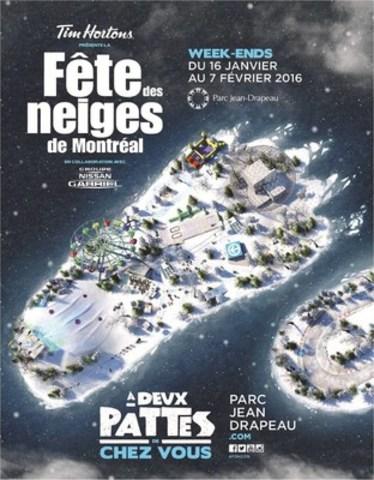 Fête des neiges de Montréal, week-ends du 16 janvier au 7 février 2016. www.parcjeandrapeau.com (Groupe CNW/SOCIETE DU PARC JEAN-DRAPEAU)