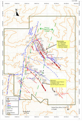 SilverCrest Metals Inc. Sonora, Mexico - Las Chispas Project - Figure 1 Las Chispas Wide Discovery Map (CNW Group/SilverCrest Metals Inc.)