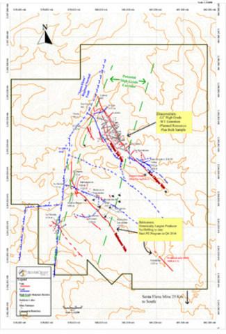 SilverCrest Metals Inc. Sonora, Mexico - Las Chispas Project - Figure 1 Las Chispas Wide Discovery Map (CNW Group/SilverCrest Metals Inc.)
