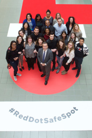 RioCan, LOVE and Degrassi take a stand together in the fight against bullying through the launch of Red Dot Safe Spot - declaring all RioCan malls across Canada 'bully-free' zones. Canadians are encouraged to join the conversation online with #RedDotSafeSpot (CNW Group/RioCan)