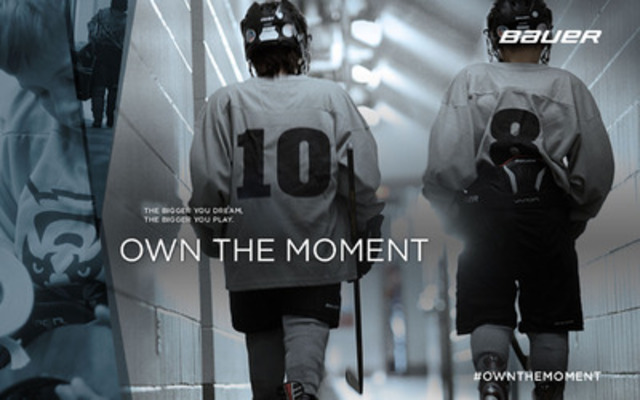 Bauer Hockey's OWN THE MOMENT campaign- AD # 2 - The Bigger You Dream, The Bigger You Play. (CNW Group/BAUER HOCKEY, INC.)