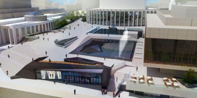La future Esplanade de la Place des Arts (Groupe CNW/Place des arts)