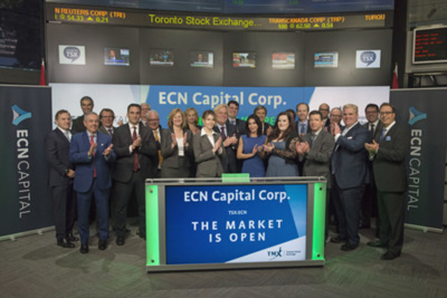 Steven Hudson, CEO, ECN Capital Corp. (ECN), joined Ungad Chadda, President, Capital Formation, Equity Capital Markets, TMX Group, to open the market. Element Financial Corporation (EFN) is a fleet management and equipment finance company. On October 3, 2016, the company separated into two independent public companies - Element Fleet Management Corp and ECN Capital Corp. ECN Capital will operate the Company's commercial finance, vendor finance, rail finance and aviation finance businesses and transition to an origination and asset management business model. ECN Capital Corp. commenced trading on Toronto Stock Exchange on September 28, 2016. (CNW Group/TMX Group Limited)