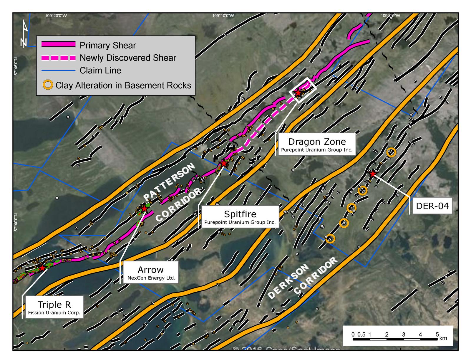 Patterson Corridor and Derkson Corridor, Athabasca Basin