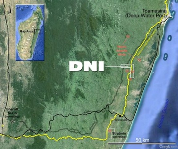 DNI's project in Madagascar (CNW Group/DNI Metals Inc.)