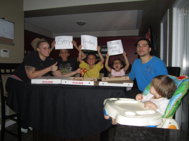 Pizza Nova Fondest Memories Contest Entry - Friday Family Pizza Nova Night (CNW Group/Pizza Nova)
