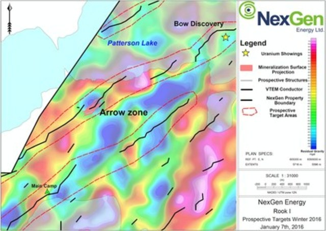 Figure 1: Arrow Zone Drill Hole Locations (CNW Group/NexGen Energy Ltd.)