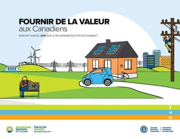 Rapport annuel 2015 sur le programme Électricité durable(MC) (Groupe CNW/Association canadienne de l'électricité)