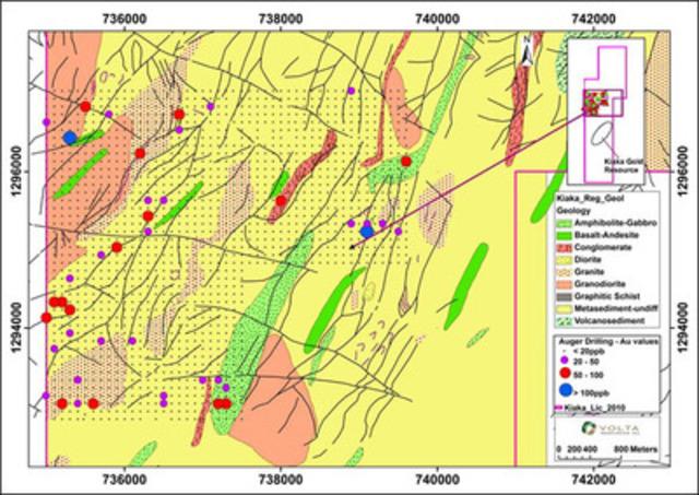 Figure 2: Mouzi Prospect (CNW Group/Volta Resources Inc.)