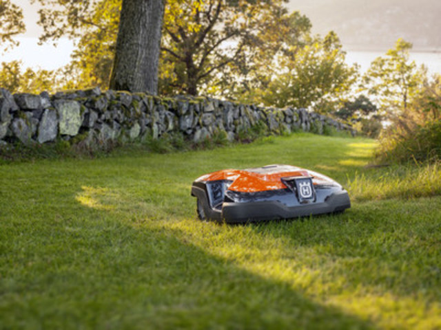 The Husqvarna Automower® 315's smart technology adapts the amount of mowing to the lawn's growth ...