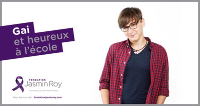 Campagne « Gai, lesbienne, trans et heureux à l'école » (Groupe CNW/FONDATION JASMIN ROY)