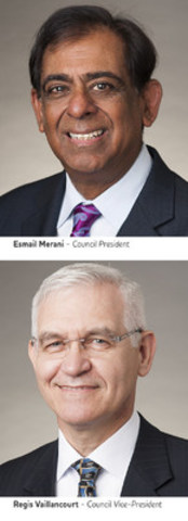 Esmail Merani  - Council President    Regis Vaillancourt – Council Vice President  (CNW Group/Ontario College of Pharmacists)