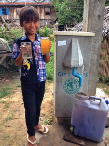Biosand Filters, invented in Canada and installed around the world by Samaritan's Purse, do an amazing job in turning polluted, dangerous water into clear, cool water that's safe to drink. (CNW Group/Samaritan's Purse Canada)