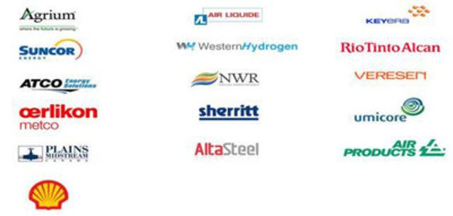 Companies that participated in the study include Agrium, Air Liquide, Air Products, AltaSteel, ATCO Energy Solutions, Keyera Energy, North West Redwater Partnership, Oerlikon Metco (Canada) Inc., Plains Midstream, Rio Tinto Alcan, Shell Canada, Sherritt, Suncor Energy, Umicore, Veresen and Western Hydrogen. (CNW Group/Alberta Innovates)
