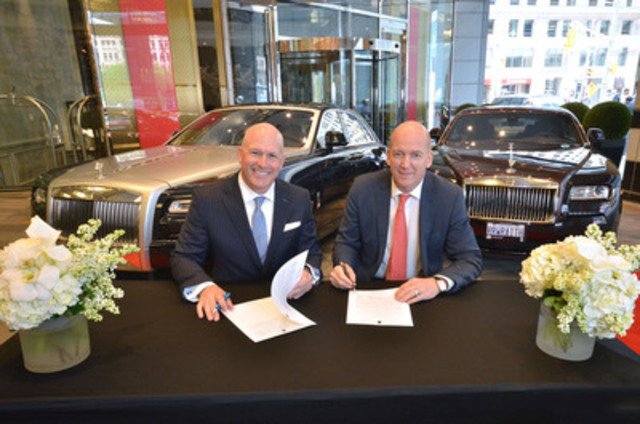Paul Cummings and Neil Labette announce strategic marketing partnership. (Photographer: Nicola Betts) (CNW Group/Grand Touring Automobiles)