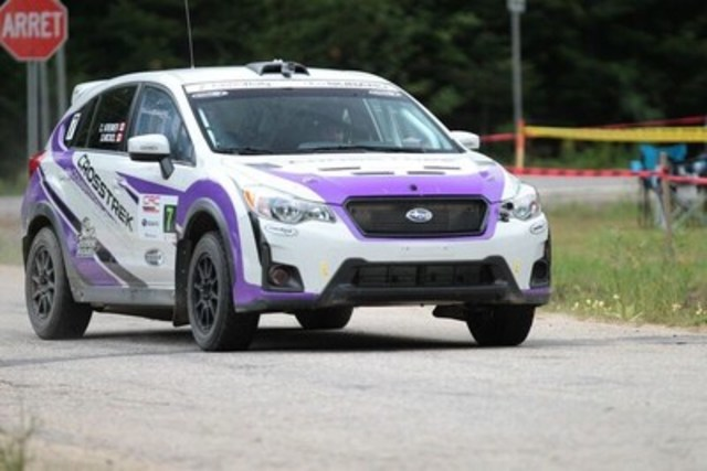 Subaru Crosstrek competes in Rallye Défi (CNW Group/Subaru Canada Inc.)