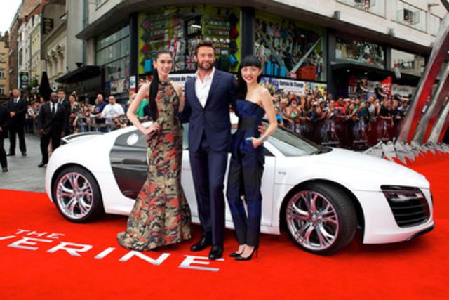 Tao Okamoto, Hugh Jackman and Rila Fukushima at The Wolverine premiere. (CNW Group/Audi Canada Inc.)