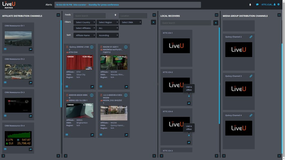 Quincy Media's 14 News Stations Rely on LiveU Matrix for Real-Time Live Content Sharing over IP