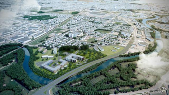 Vue aérienne du complexe Vanier Les Quartiers. (Groupe CNW/Réseau Sélection)