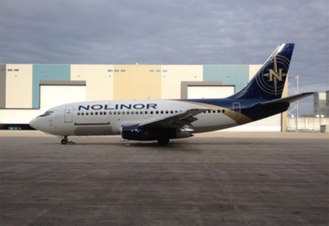 Nolinor Aviation (www.nolinor.com), transporteur aérien annonce aujourd'hui l'ajout d'un 4e Boeing 737-200 Combi (passagers / cargo) à sa flotte d'aéronef d'une capacité de 119 passagers. Les services de Nolinor permettent de combler les besoins de certaines régions qui ne possèdent pas de service de transport régulier. (Groupe CNW/Nolinor Aviation)