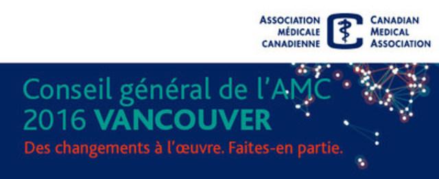 Investiture du nouveau président de l'AMC, le Dr Granger Avery, à la dernière journée de l'Assemblée annuelle de l'AMC à Vancouver (Groupe CNW/Association médicale canadienne)