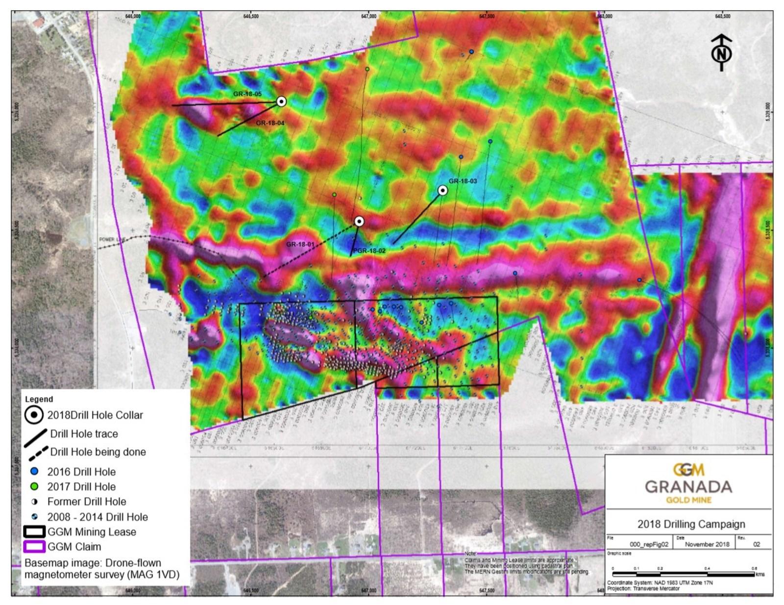 Granada Gold 2018 Drilling Campaign