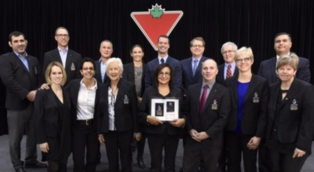 Today, Canadian Tire and Canada's Sports Hall of Fame officially inducted the Class of 2015 at Ryerson's Mattamy Athletic Centre. Inductees will be honoured this evening at Canada's Sports Hall of Fame 2015 Induction Celebrations. (CNW Group/CANADIAN TIRE CORPORATION, LIMITED)