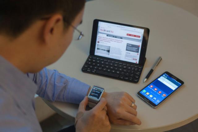 La technologie est en train de redéfinir le marché du travail canadien. Selon un nouveau rapport sur l'espace de travail connecté de Rogers dévoilé aujourd'hui - les Canadiens passent la plus grande partie de leur journée de travail à se servir d'un outil de travail classique mais préféreraient employer des ordinateurs portables, des tablettes et des téléphones intelligents en tant qu'outil de travail principal. (Groupe CNW/Rogers Communications Inc. - Français)