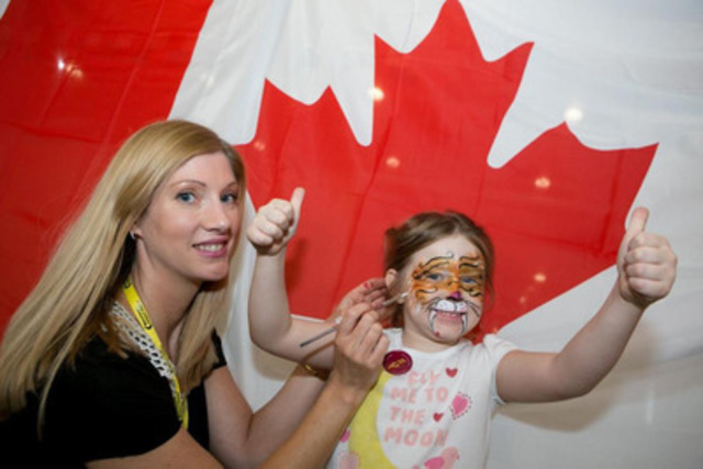 Air Canada rouge Manchester 5 - Five year-old passenger Eirin Thomas flew back to her hometown Toronto on Air Canada rouge flight AC1931 on Friday June 27 (CNW Group/Air Canada rouge)
