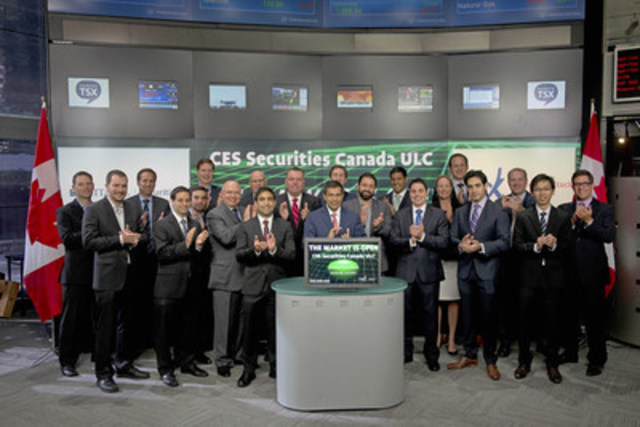 Jamil Nazarali, Head of Citadel Execution Services, Citadel Securities LLC and David Archer, President, CES Securities Canada ULC (005) joined Lou Eccleston, CEO, TMX Group to open the market. Also in attendance were several Citadel team members. CES Securities Canada ULC is a participating Organization of the Toronto Stock Exchange, Member of the TSX Venture Exchange, TMX select Subscriber and Alpha Member. (CNW Group/TMX Group Limited)