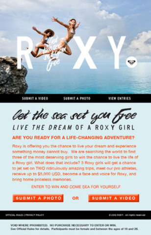 ROXY Let the Sea Set You Free contest entry (CNW Group/Roxy)