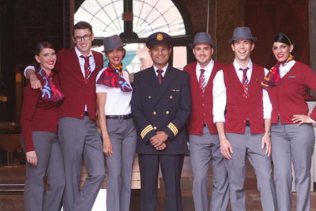 Joignez l'équipe! Les 150 premiers agents de bord d'Air Canada rouge ont presque terminé leur formation intensive et bien d'autres agents seront recrutés au cours des trois prochaines années à mesure que le transporteur prendra vite de l'expansion. Avec le look décontracté et élégant de ses agents de bord, élaboré en partenariat avec des concepteurs du Canada, et sa promesse d'offrir le meilleur service à la clientèle possible, Air Canada rouge signale une toute nouvelle expérience de voyage d'agrément. (Groupe CNW/Air Canada rouge)