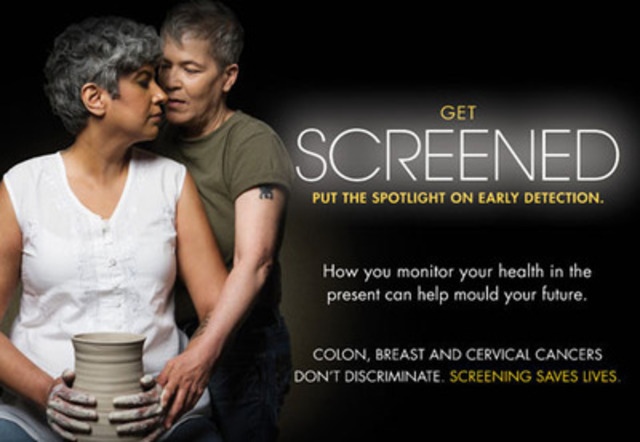 Canadian Cancer Society new cancer prevention initiative targets LGBTQ communities. More at cancer.ca/getscreened. (CNW Group/Canadian Cancer Society (Ontario Division))
