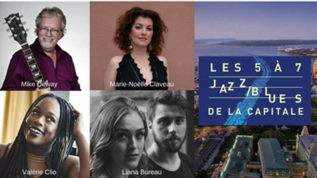 Les 5 à 7 jazz/blues de la capitale : Mike Deway, Marie-Noëlle Claveau, Valérie Clio et Liana Bureau (Groupe CNW/Commission de la capitale nationale du Québec (CCNQ))