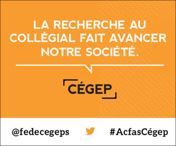 Les cégeps au 84e congrès de l'Acfas (Groupe CNW/Fédération des cégeps)