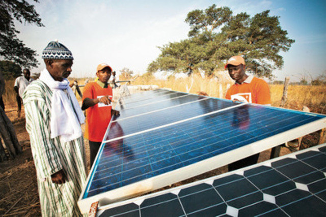 A recent poll indicates a strong Canadian preference towards giving and receiving environmentally friendly gifts. Solar Power from the World Vision Gifts is an example of an environmentally friendly gift. (CNW Group/World Vision Canada)