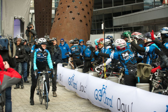 Clara's Big Ride for Bell Let's Talk begins: Six-time Olympian Clara Hughes starts in Toronto an ...