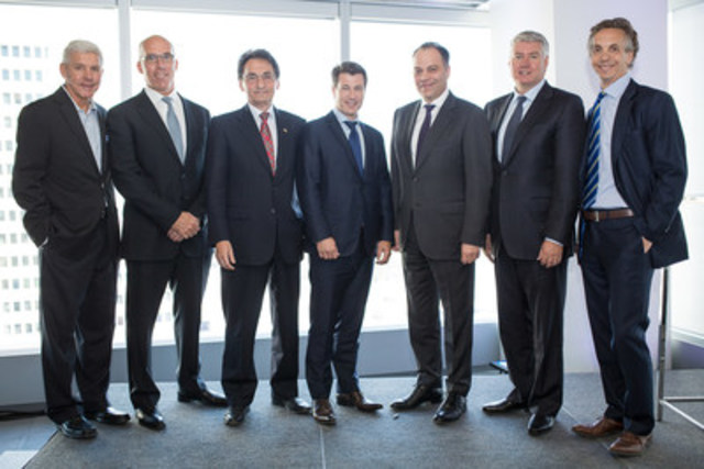 The inauguration of Cadillac Fairview's Deloitte Tower took place today in the presence of Réjean ...