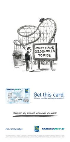 WestJet a lancé une nouvelle campagne de marketing afin de promouvoir sa carte WestJet World Elite MasterCard RBC mettant en vedette des œuvres originales de Lee Lorenz, légendaire dessinateur du magazine The New Yorker. (Groupe CNW/WestJet)