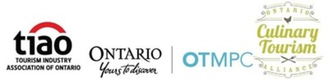 Tourism Industry Association of Ontario (TIAO), Société du Partenariat ontarien de marketing touristique (SPOMT), et l'Ontario Culinary Tourism Alliance (OCTA) (Groupe CNW/Société du Partenariat ontarien de marketing touristique)