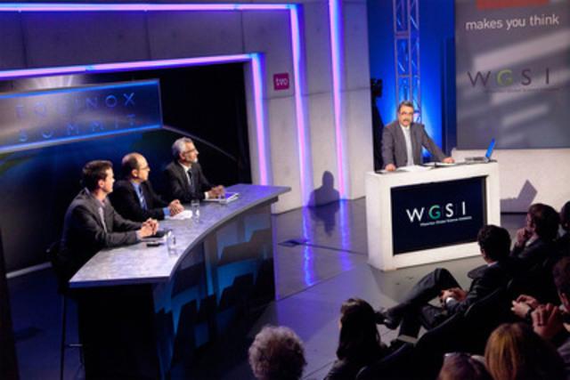 Les participants au Equinox Summit publient le plan directeur intitulé Equinox Blueprint: Energy 2030 le 19 février 2012 - une feuille de route reposant sur une approche scientifique pour un avenir plus vert, misant sur l'énergie électrique. (Groupe CNW/Waterloo Global Science Initiative (WGSI))