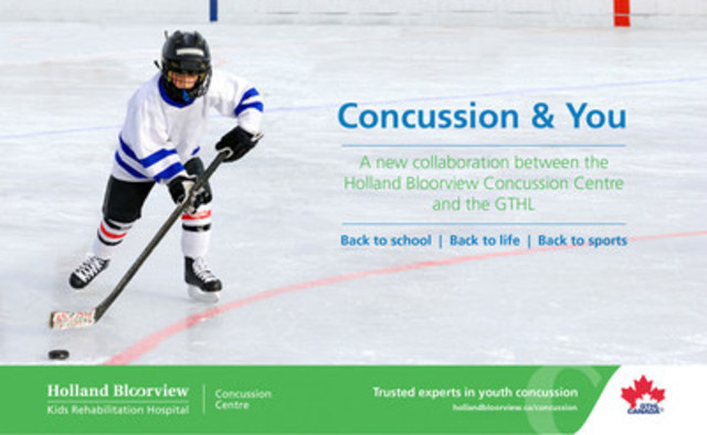GTHL Launches New Minor Hockey Concussion Strategy (CNW Group/Holland Bloorview Kids Rehabilitation Hospital)