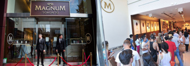 Magnum(R) extends first ever North American Pleasure Store closing date to August 30 due to overwhelming success in Toronto (CNW Group/Magnum)