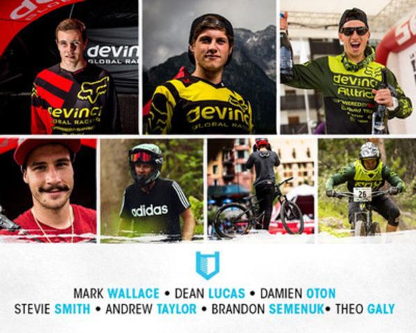 HITCASE announces world class MTB team - Mark Wallace, Dean Lucas, Damien Oton, Stevie Smith, Andrew Taylor, Brandon Semenuk, Theo Galy (CNW Group/HIT Technologies Inc)