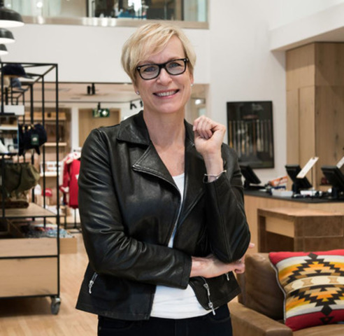 Roots President and COO Wendy Bennison at company's flagship store in Toronto, 80 Bloor St. W. (CNW Group/Roots Canada Ltd.)