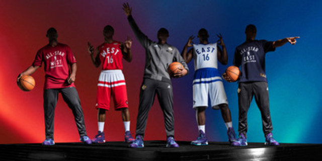 adidas releases NBA All-Star 2016 Uniforms (CNW Group/adidas Canada Limited)