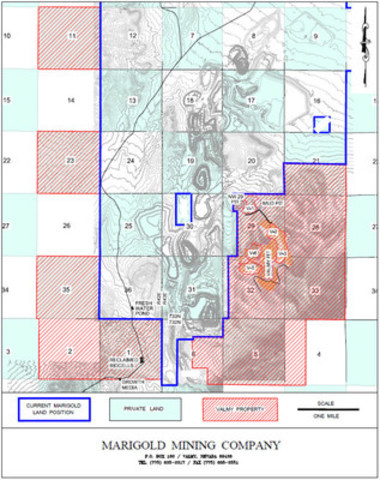 Appendix A: Location of the Valmy and Marigold properties in Nevada, U.S. (CNW Group/Silver Standard Resources Inc.)